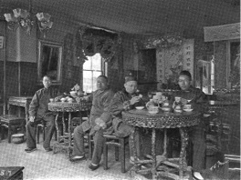 Chinese restaurant on Harrison Ave. 1890s. Boston Public Library