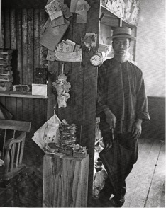 Gong Wing or W. Lee in Milton laundry. 1890s. Suttermeister photo. Milton Historical Society