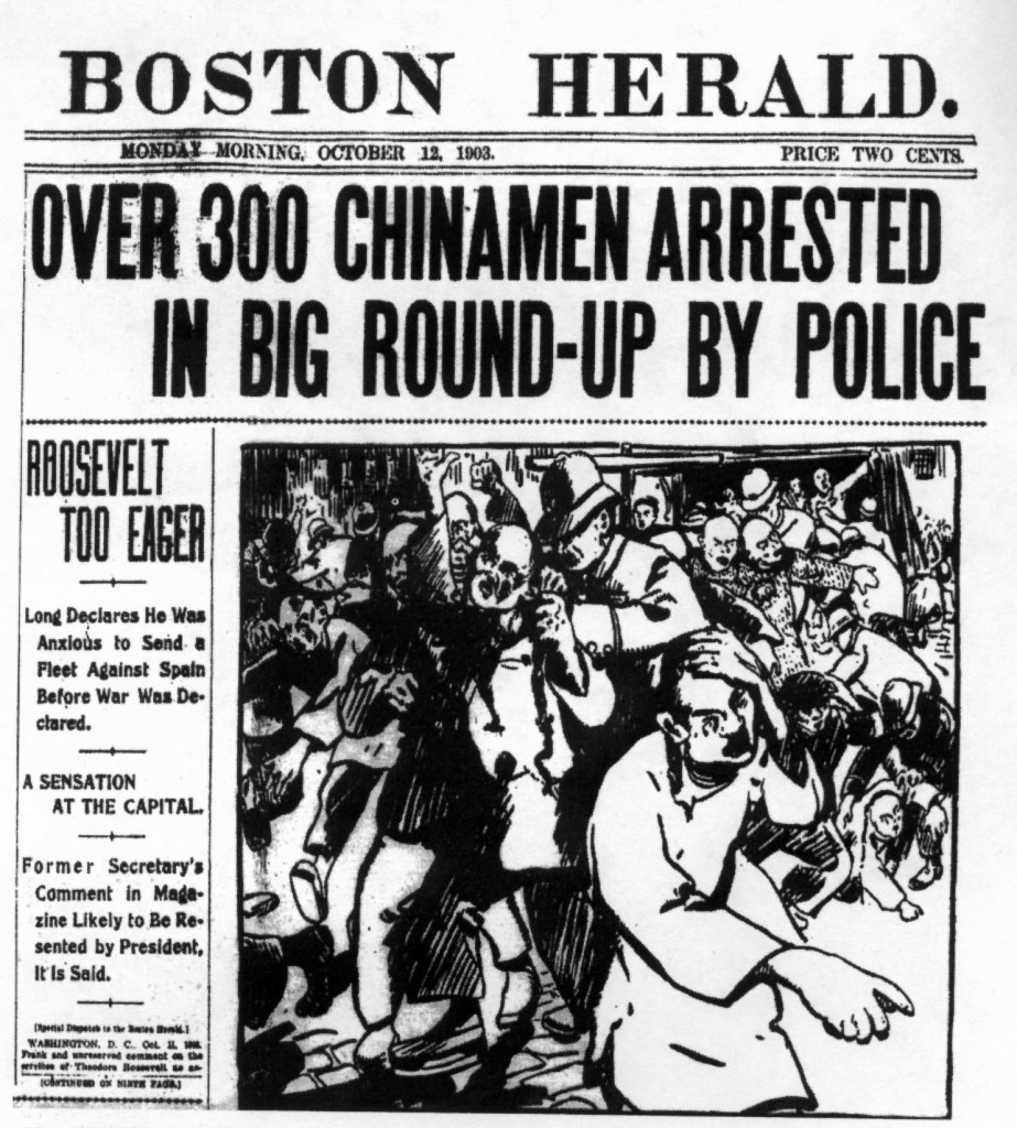 BostonHerald-Over-300-Chinamen-Arrested
