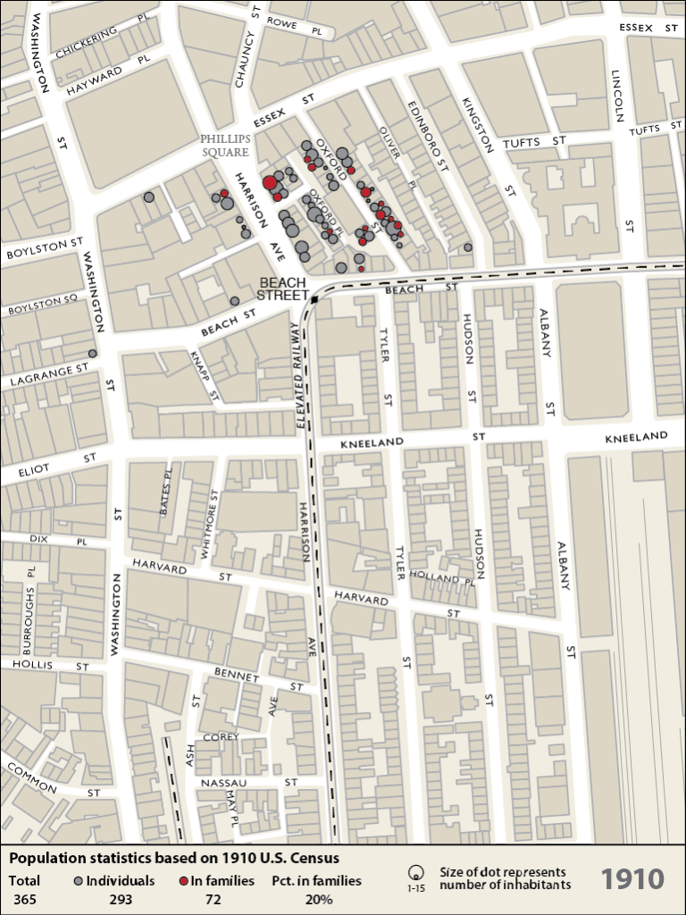 EMERGENCE WWIWWII Chinatown Atlas - Census us 1910 map